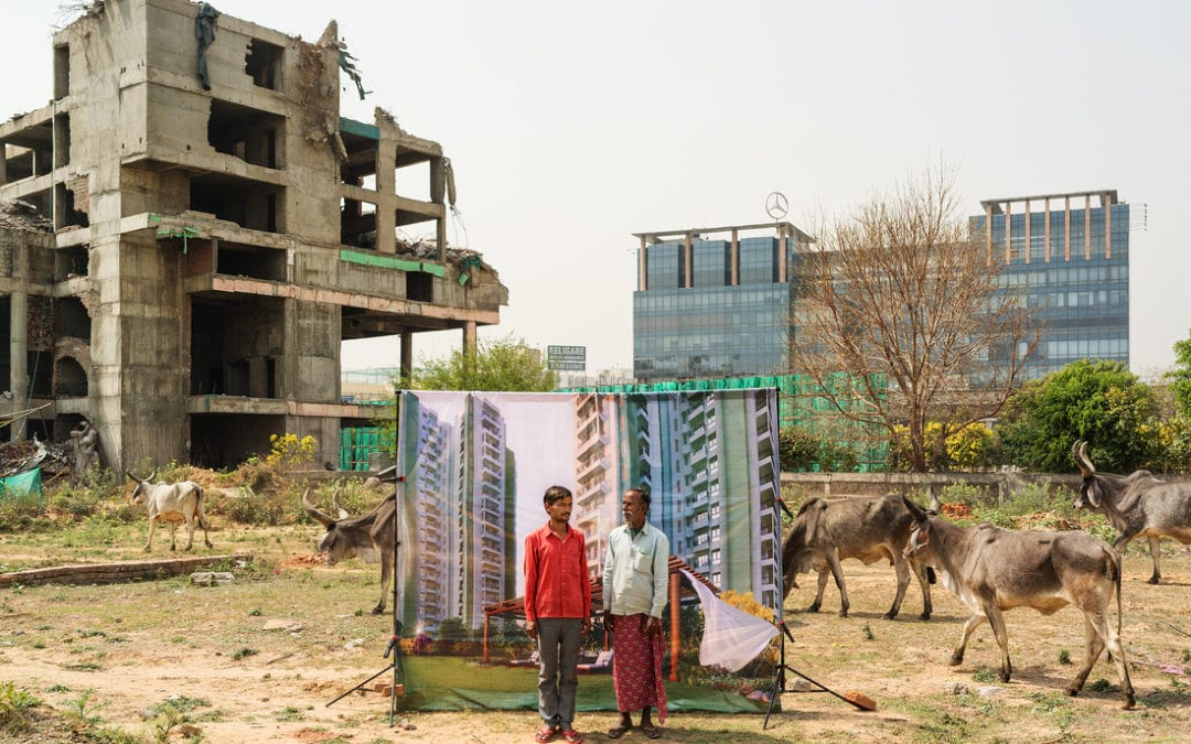 Les chantiers de Delhi, entre rêve urbain et fantasmes publicitaires