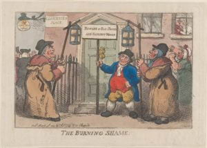 The Burning Shame, par Thomas Rowlandson (1809)